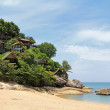 Bungalows on the rock in Koh Pha ngan — Stock Photo