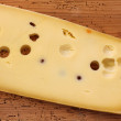 图库照片: Emmental Cheese (Emmentaler) from Switzerland