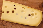 Emmental Cheese (Emmentaler) from Switzerland — Stok fotoğraf