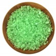 SeSalt Bath with Algae extract in wooden bowl — Stockfoto #39690187