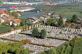 Friedhof (Graveyard) in Trentino-Alto Adige, Italy — Stock Photo