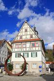 The former City Hall (Rathaus) of Künzelsau, Germany. — Stockfoto