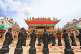 Statues of Chinese Shaolin monks in Pattaya — Stock Photo