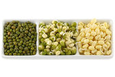 Dried and soaked Mung Bean (Green gram) — Stock Photo