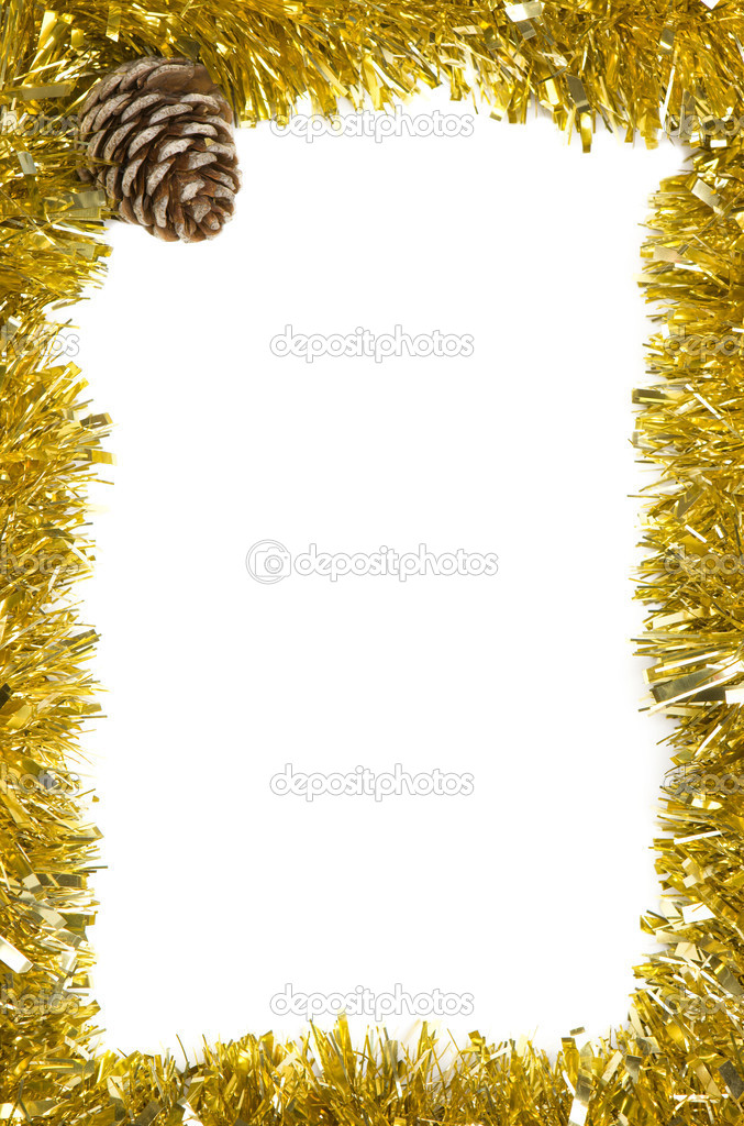 Christmas decoration frame with empty space for text — Stock Photo #13929148