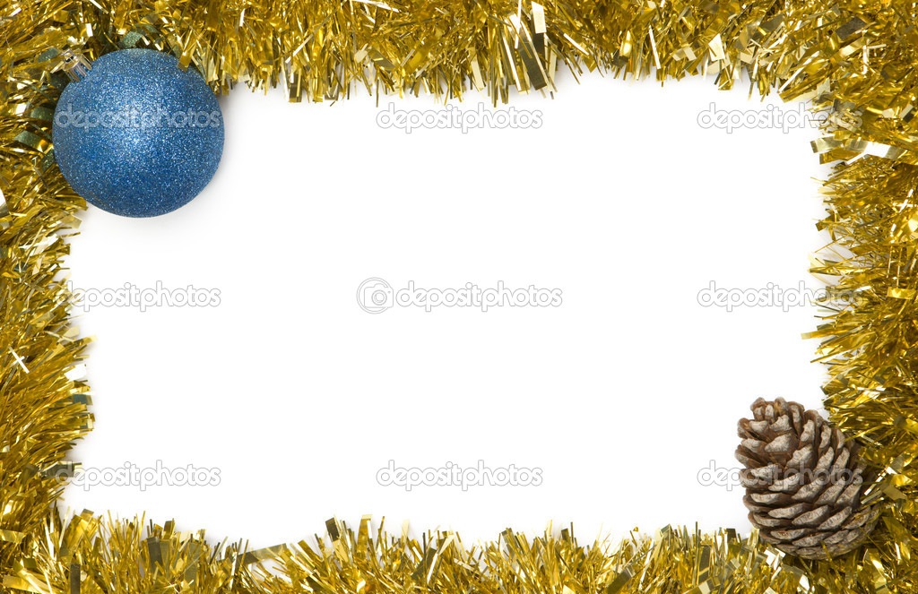 Christmas decoration frame with empty space for text  Stock Photo #13929182