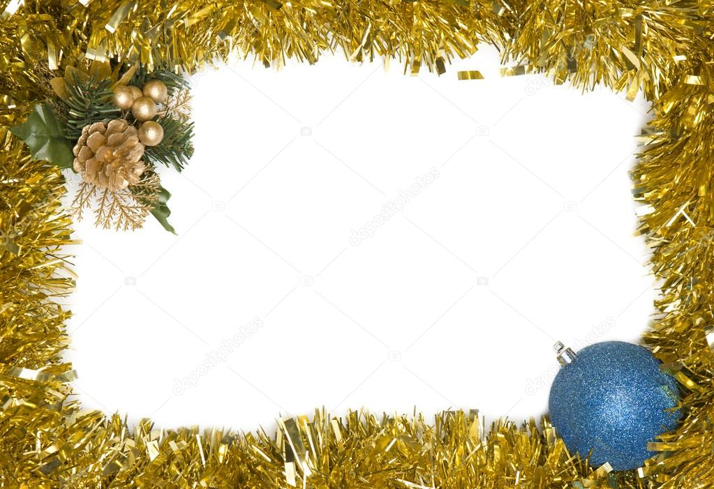 Christmas decoration frame with empty space for text — Stock Photo #13929223