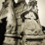 Beautiful vintage image of a praying angel — Stock Photo