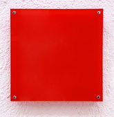 Red quadrate with pink frame — Stock Photo