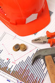 Housebuilding and renovation graphics — Stock Photo