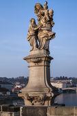 Figure on Charles Bridge — Stock Photo