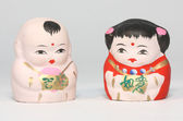 Chinese netsuke boy and girl — Stock Photo
