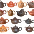 Set of Chinese teapots for tea ceremony — Stock Photo