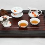 Chinese tea ceremony table — Stock Photo
