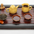 Chinese tea ceremony table — Stock Photo