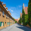 Fuggerei, Augsburg, Germany — Stock Photo
