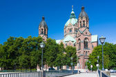 Saint Luke in Munich — Stock Photo