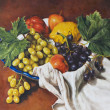 Stock Photo: Oil painting of a still life