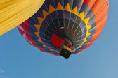 Hot-air balloon gathering in the valley of the temples at Paestum — ストック写真
