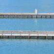 Piers of the marina - Stock Photo