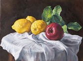 Oil painting of a still life — Stock Photo