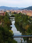 Arga River Across Pamplona 01 — Stock Photo