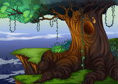 Tree hollow — Stockvector