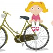 Kids on a bike — Stock Vector