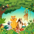 Vecteur: Animals in forest