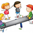 Royalty-Free Stock Vector Image: Seesaw kids