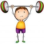 Weight lifter — Stock Vector