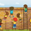 Royalty-Free Stock Vector Image: Construction kids