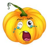 Crying pumpkin — Stock Vector