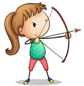 Archer girl — Stock Vector