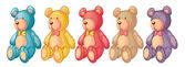 Teddy bears — Stock Vector
