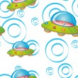 Seamless pattern with kid&#039;s theme - Stock Vector