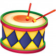 Stock Vector: A drum