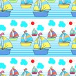 Seamless pattern with kid's theme - Stock Vector
