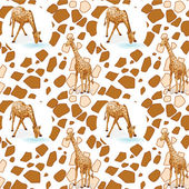 Seamless pattern with kid's theme — Stock Vector