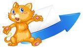 Cat arrow and envelop — Stock Vector