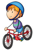 A boy riding on a bicycle — Stock Vector
