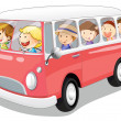 Bus and kids — Stock Vector #12870671