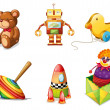 Stock Vector: Various toys