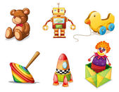 Various toys — Stock Vector