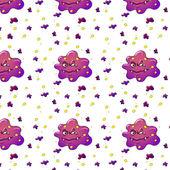 Purple monsters — Stock Vector
