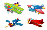 Various air planes — Vector de stock