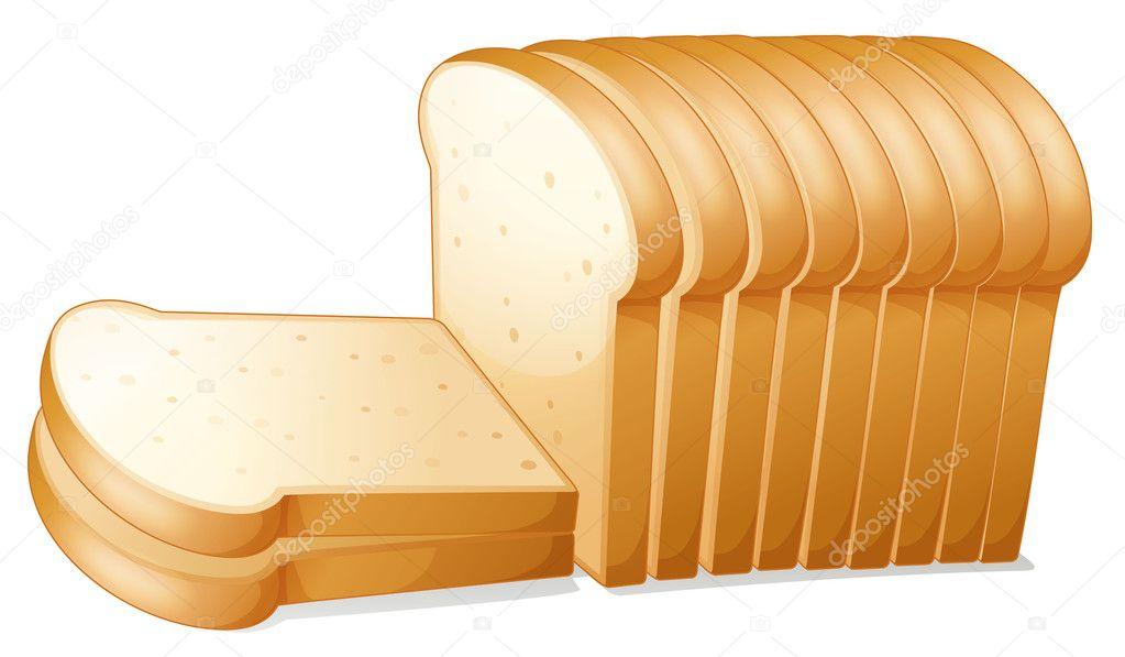 无缝模式的卡通面包吐司面包切片 #52422381