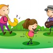 Royalty-Free Stock Vector Image: Kids playing music