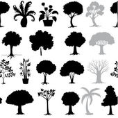 Various trees — Stock Vector