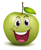 Happy apple smiley — Stock Vector
